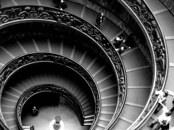 A Vatican Stairwell by BrokenBallade