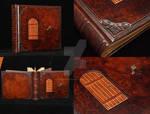 Custom photo album, bound in leather