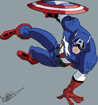 Captain America EMH In Action