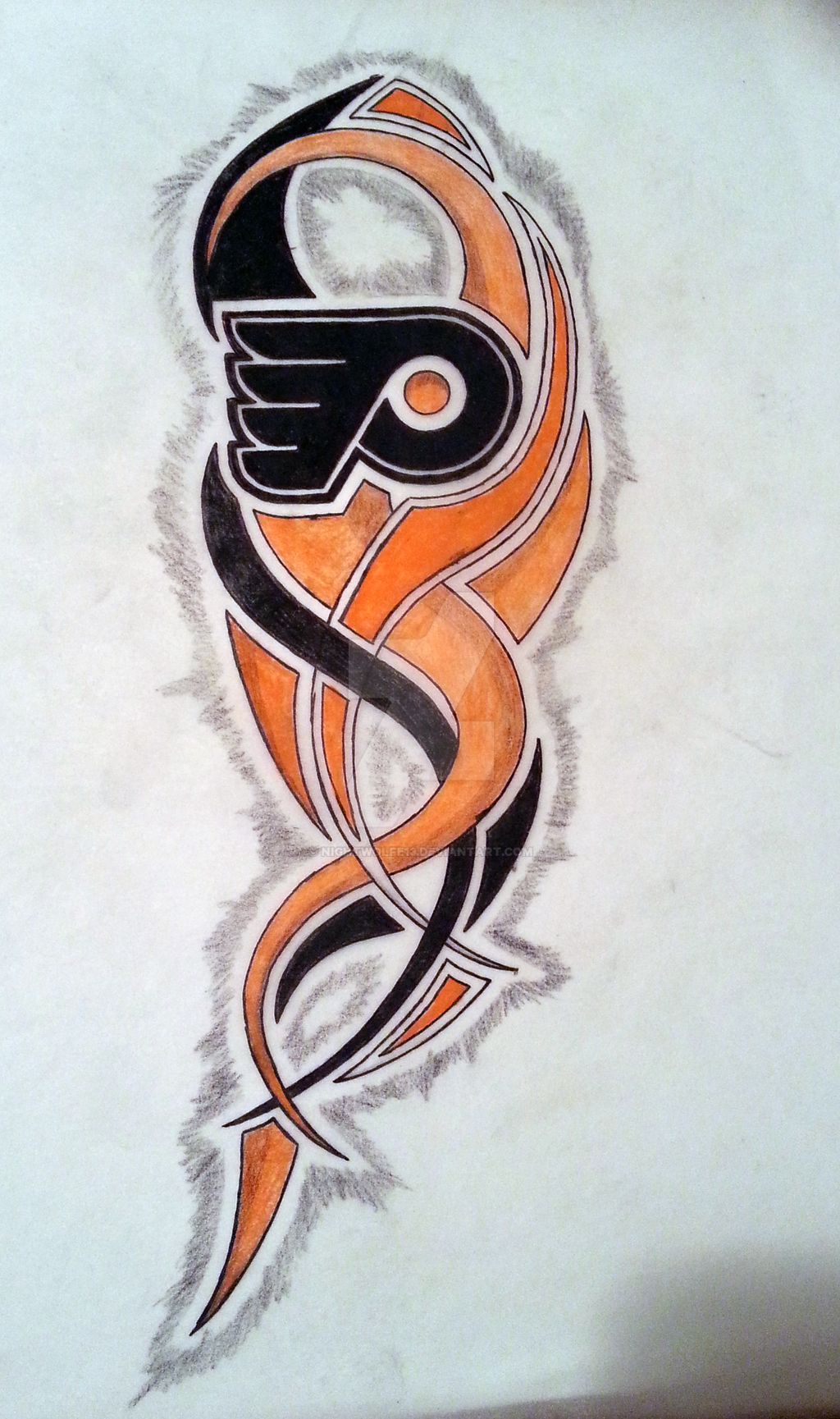 philadelphia flyers tattoo concept by nightwolfe13 on deviantart. Black Bedroom Furniture Sets. Home Design Ideas
