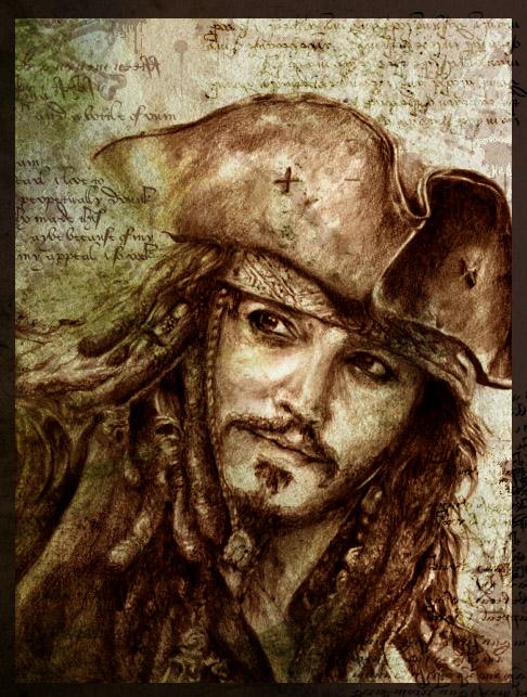 Capt'n Jack Sparrow by Ahmigad