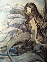 Mermaid and Waves by Ahmigad