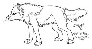 Small Wolf Lineart by bit121788
