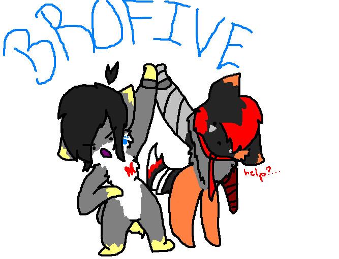 BROFIVEEEE by gayspacer