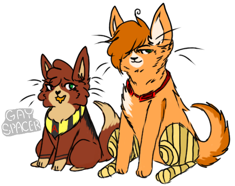 Honey and Zack by gayspacer