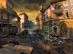 abandoned town street
