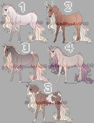 Horse Adopts (0/5) - CLOSED by GlitchedPanda