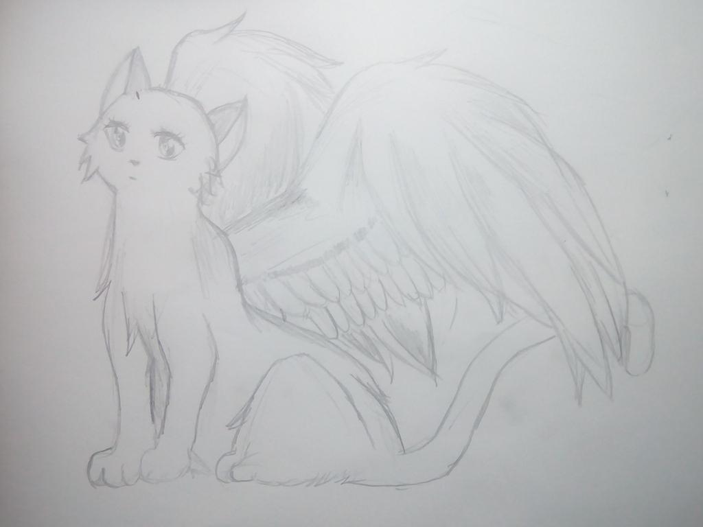 Cat With Wings by MarikoMikia
