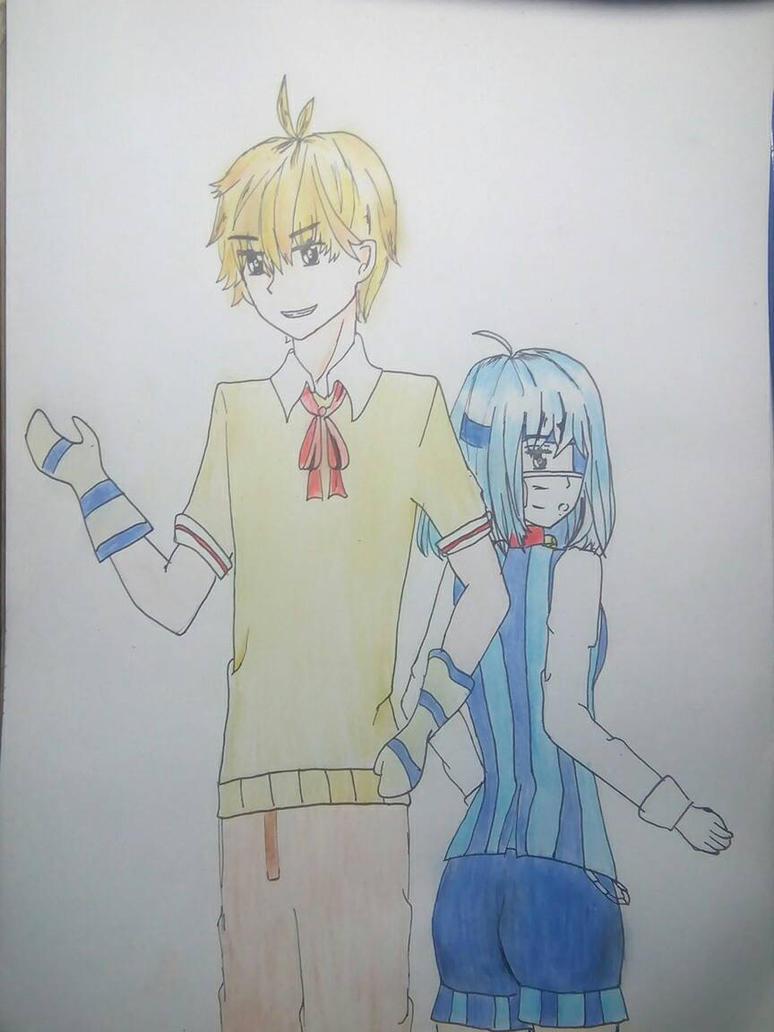 FanArt Einshine and Nyansai  by MarikoMikia