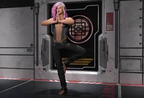 Raelyn Meditating by illysArt