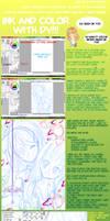 Shojo Ink-Color Tutorial 1 by DyMaraway