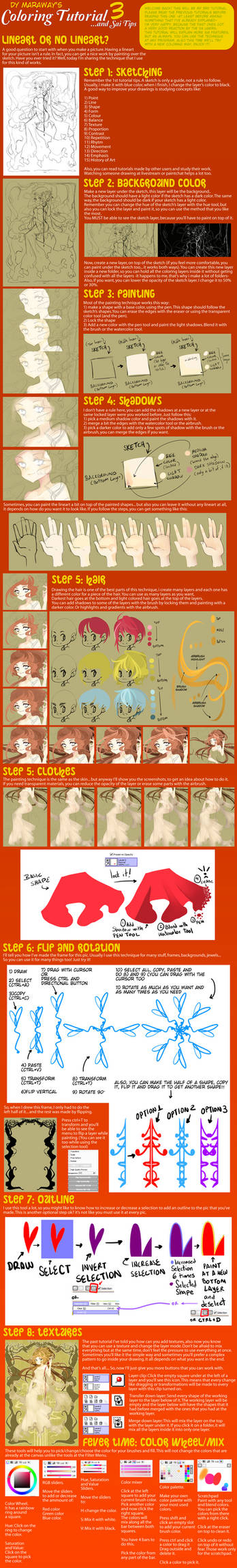 Coloring Tutorial and Sai Tips 3