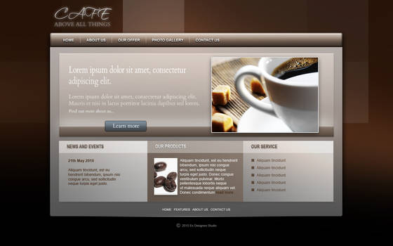 Coffee beans - web design