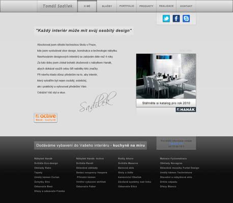 Hanak ateliery - webdesign
