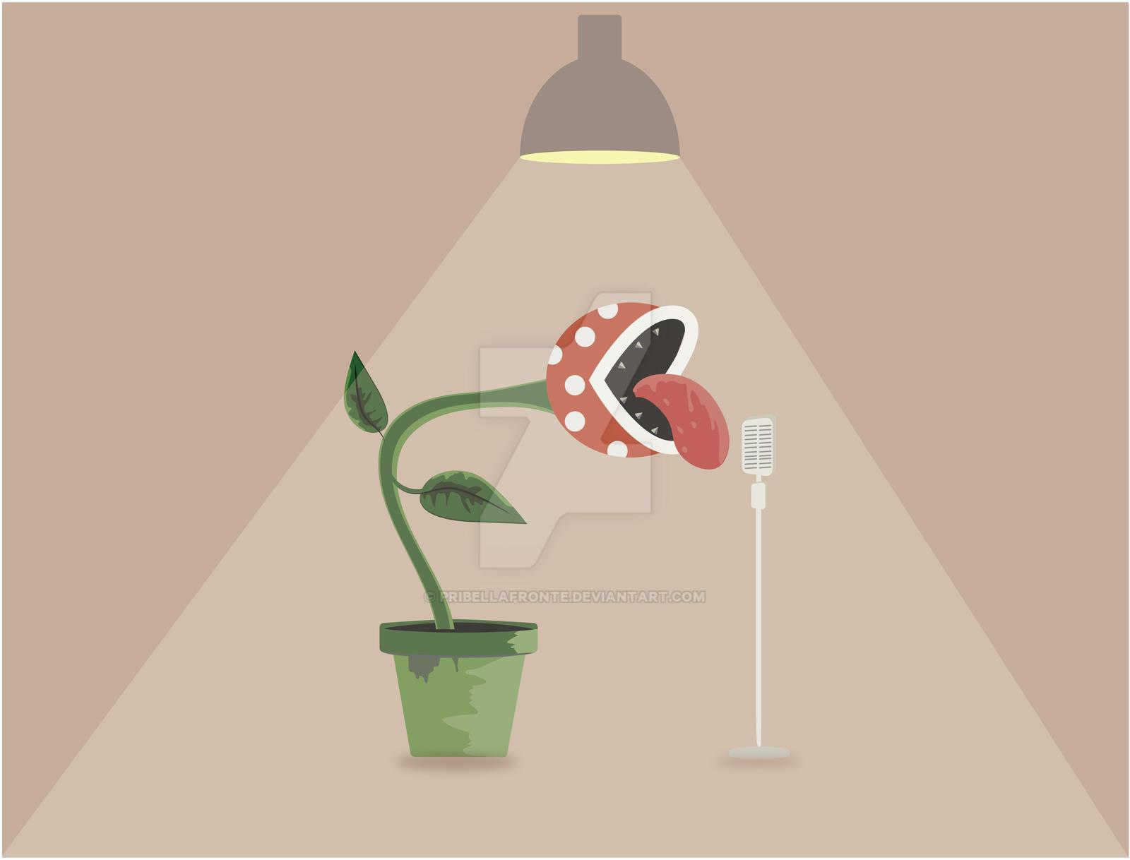 Mario - Piranha Plant singing by pribellafronte