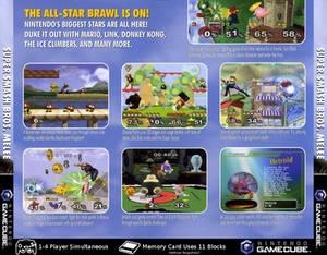 Super Smash Bros. Melee (GCN) Jewel Case Back