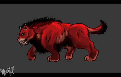 male Red Lion