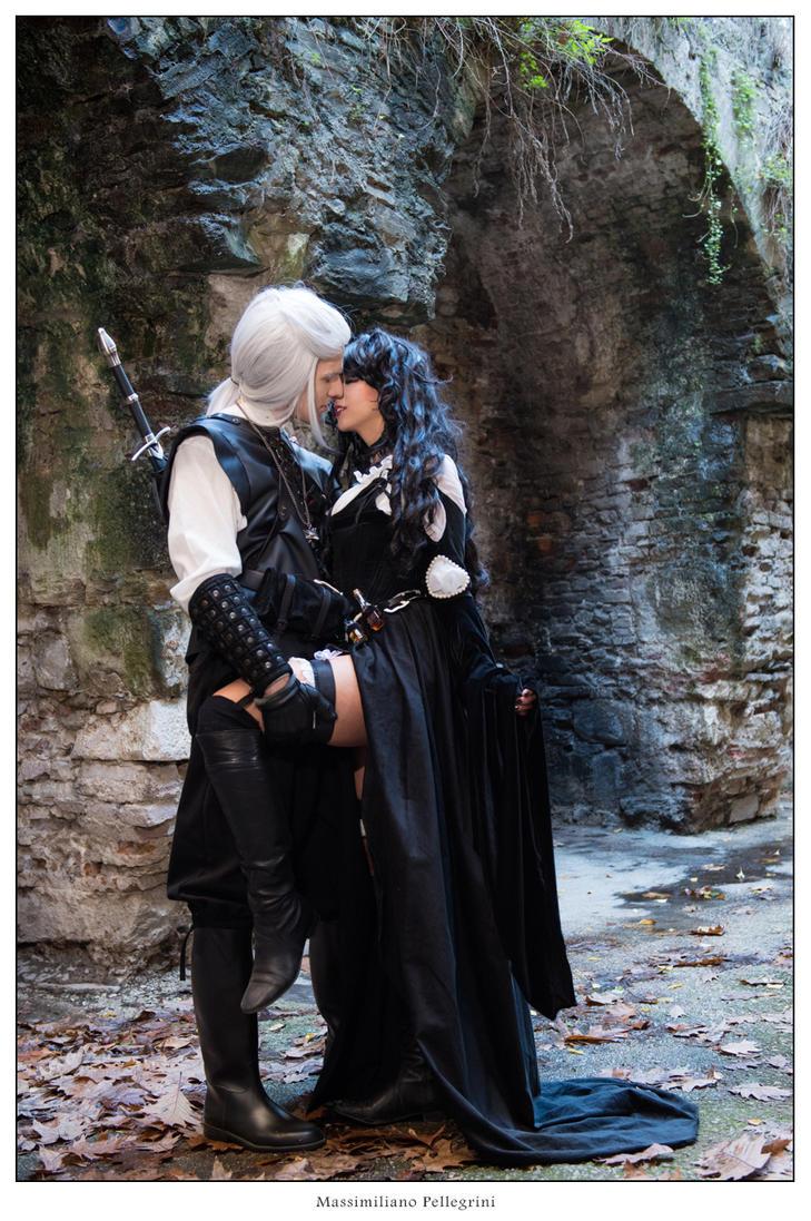 Geralt and Yennefer - The Witcher by GiorgiaTitania