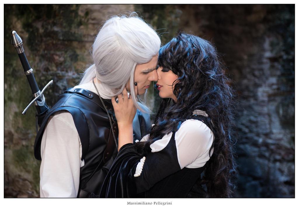 Yennefer and Geralt by GiorgiaTitania