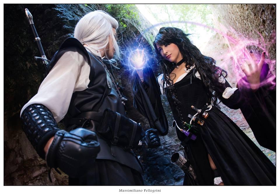 Geralt and Yennefer by GiorgiaTitania
