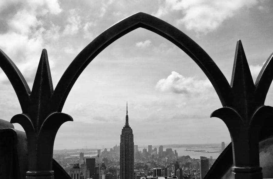 Manhattan From Top of the Rock by NDCott