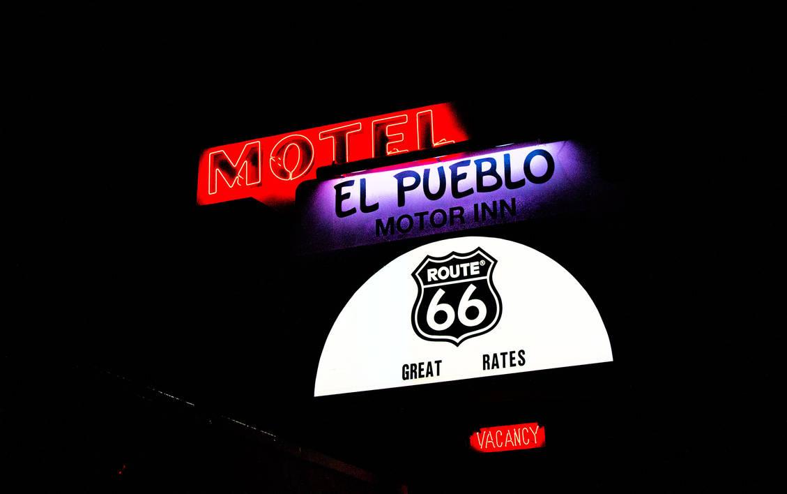 RTE 66 Neon Flagstaff AZ