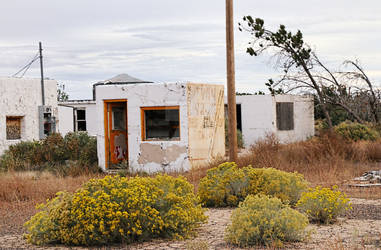 Abandoned Twin Arrows Motel  near Flagstaff