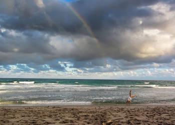 Girl on the beach by NDCott