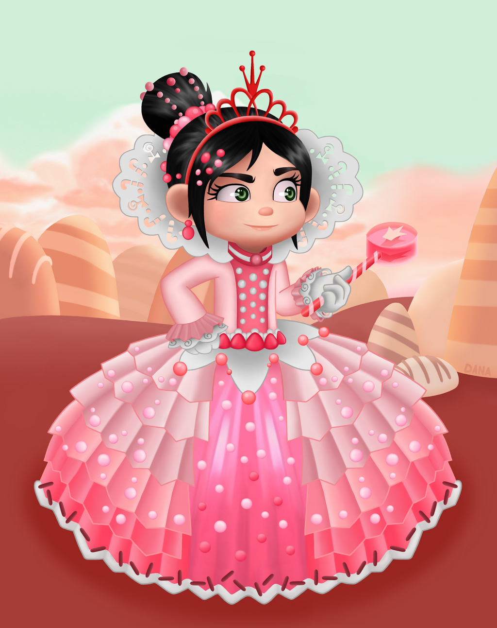 Princess Vanellope Von Schweetz by Hymo on DeviantArt