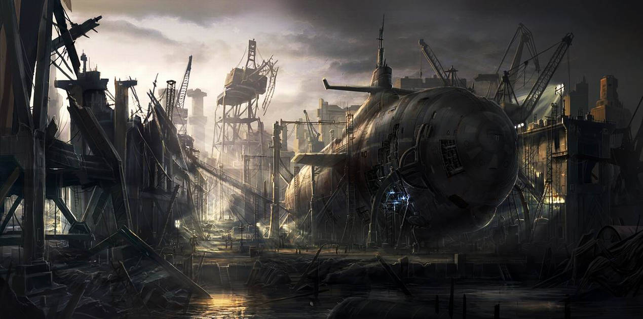 Old Submarine by RadoJavor