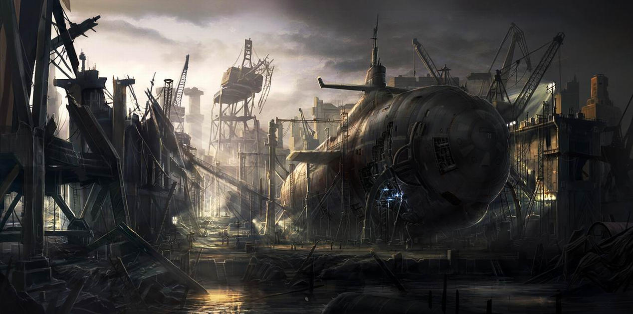 Old Submarine by RadoJavor