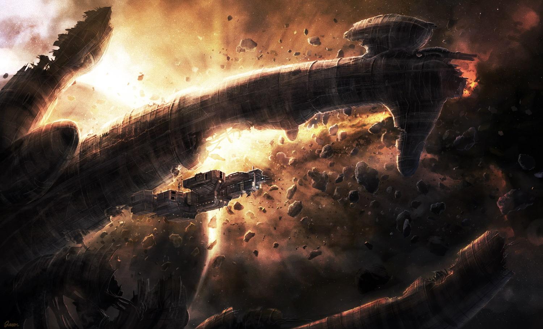 Alien derelict by RadoJavor