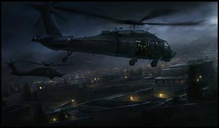 Blackhawk on the Hunt by RadoJavor