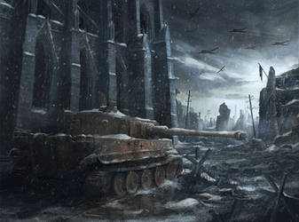 Snowy Tiger by RadoJavor