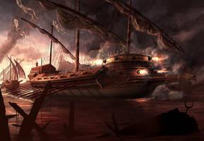 Battle Of Lepanto by RadoJavor