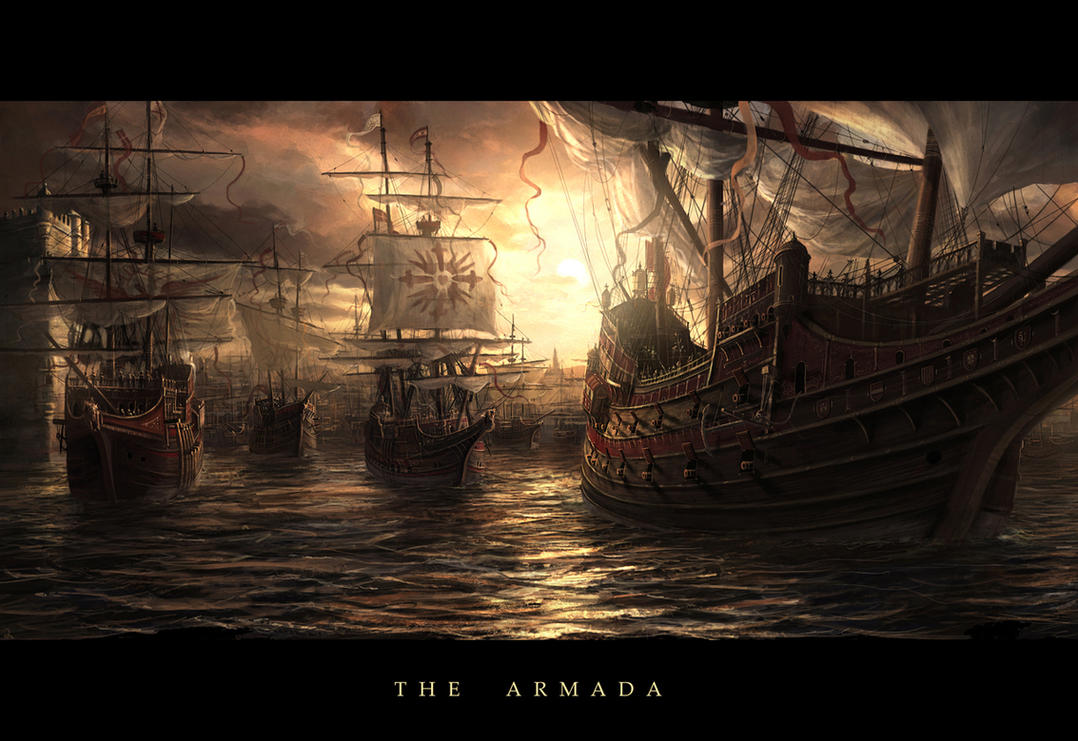 Line Art Painting Hd : The armada by radojavor on deviantart