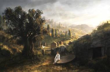 Jerusalem morning by RadoJavor