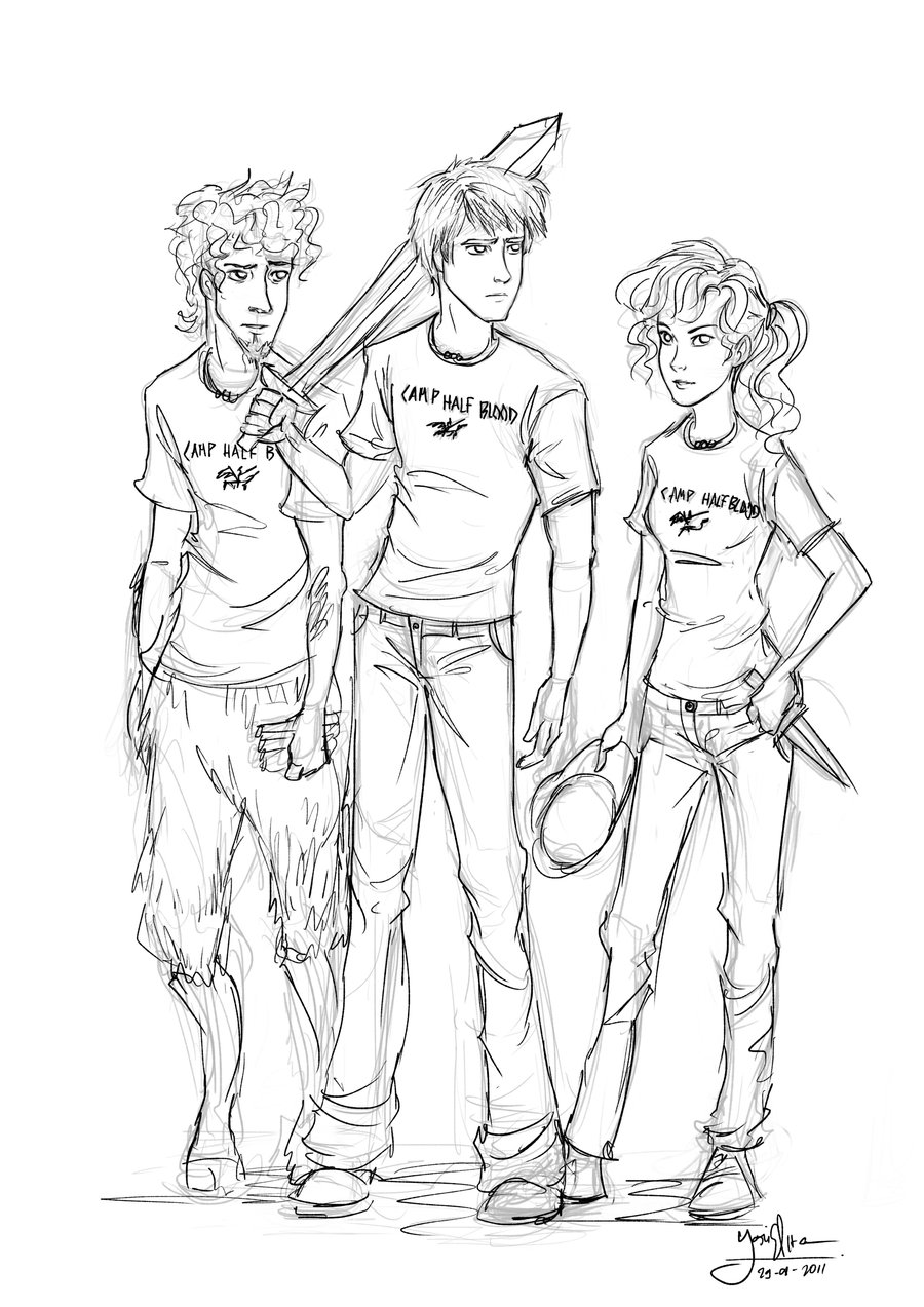 Percy Jackson Hermes Drawing Percy Jackson not mine...