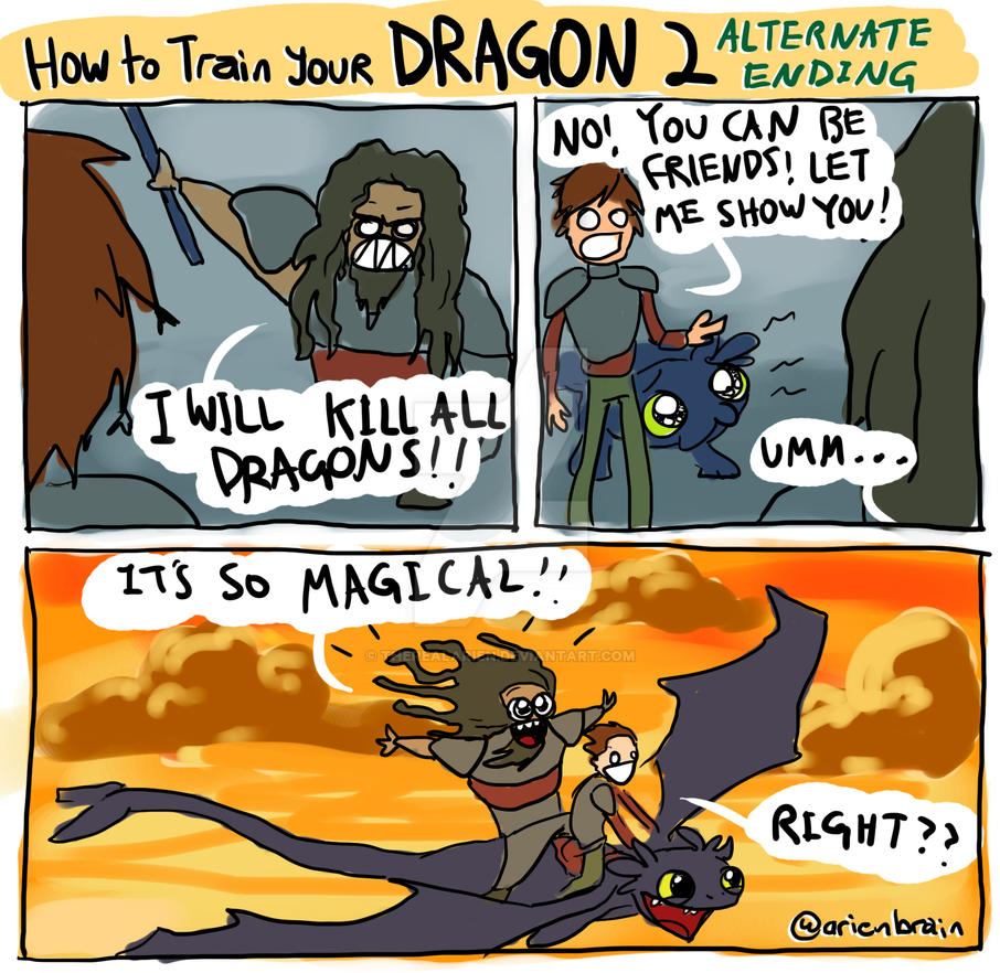 HTTYD2 Alternate Ending By Therealarien On DeviantArt
