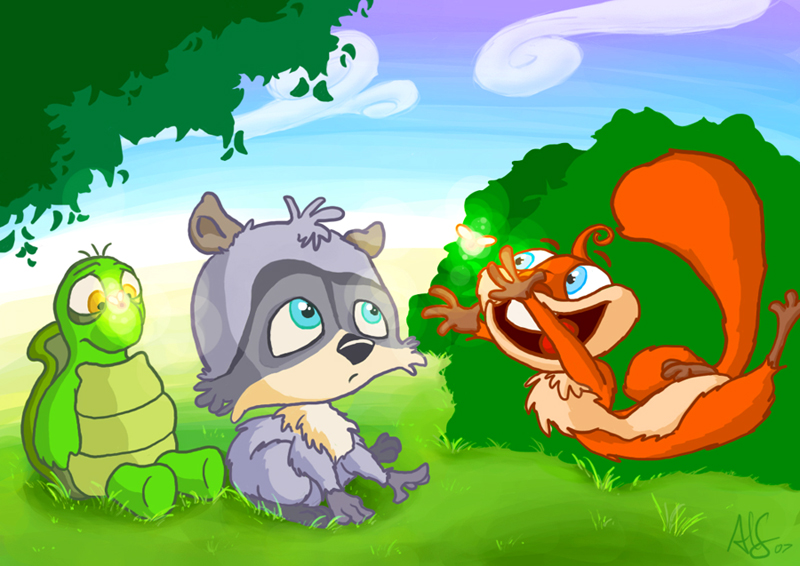 over the hedge babies by therealarien on DeviantArt