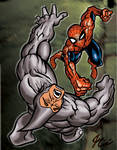 Spider-man and Rhino