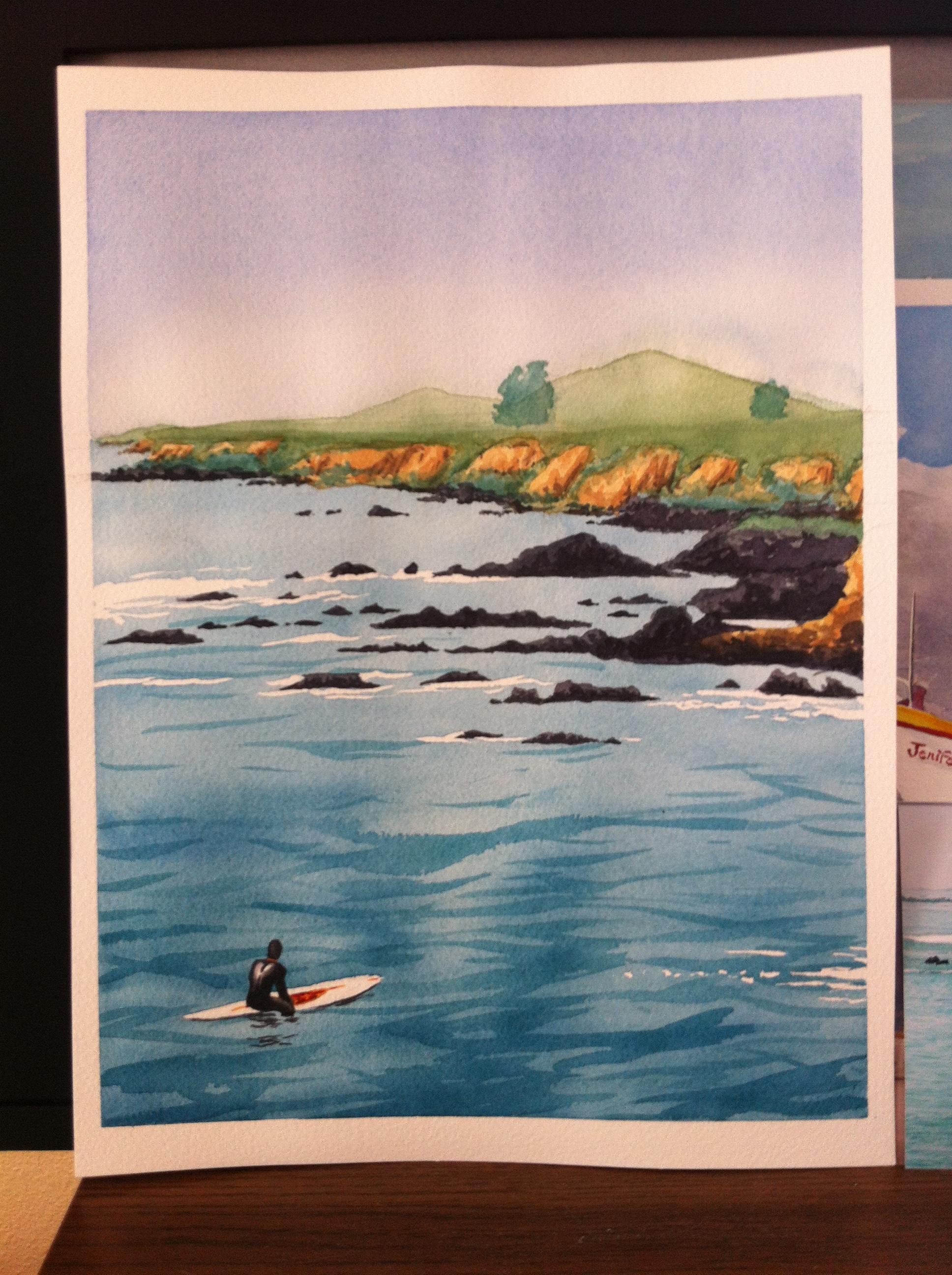 Morrow Bay Watercolor