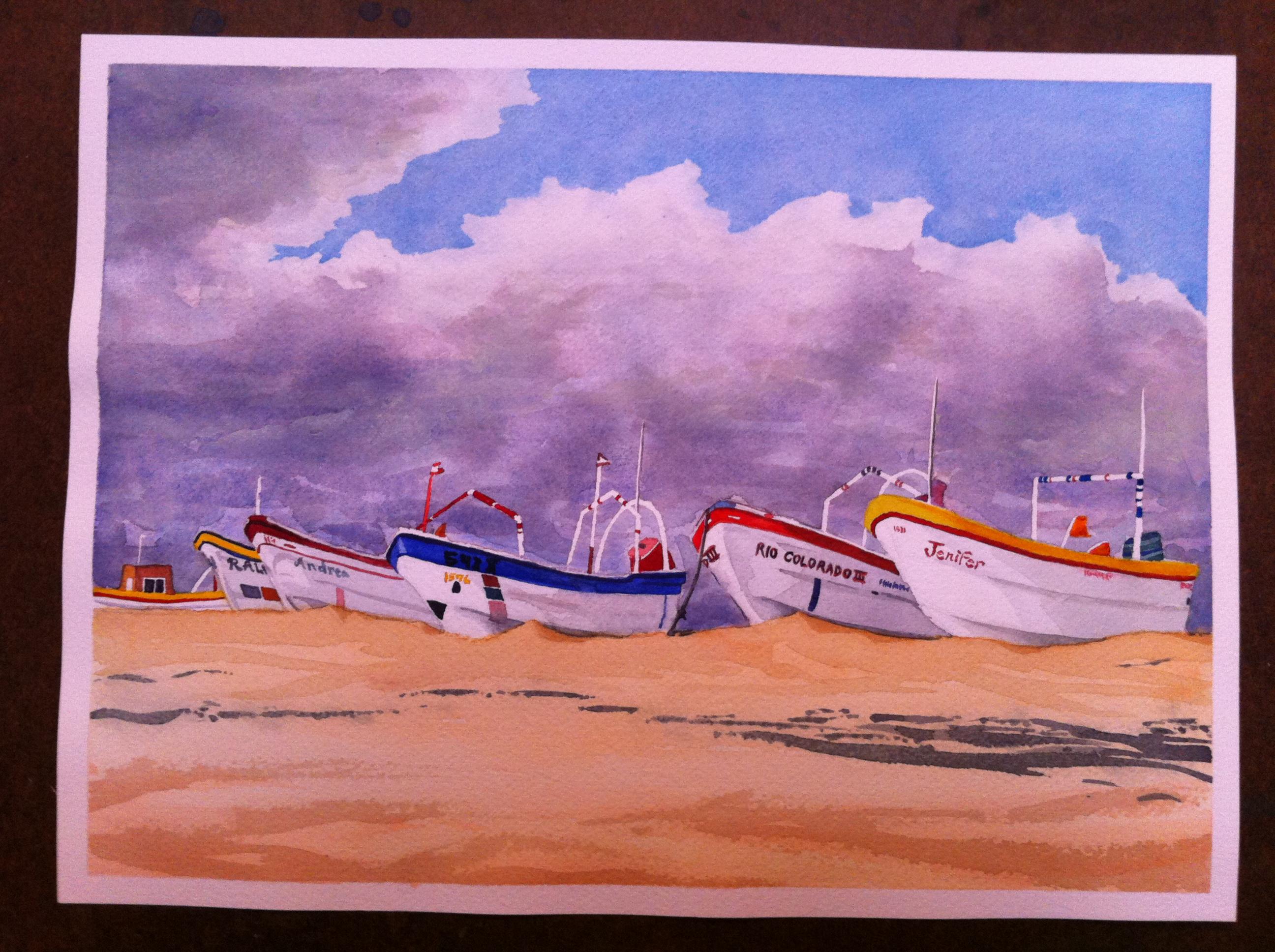 Santa Clara Mexico Watercolor