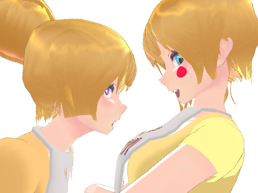 (MMD And FNAF) Chica Vs. Toy Chica By Samara09 On DeviantArt