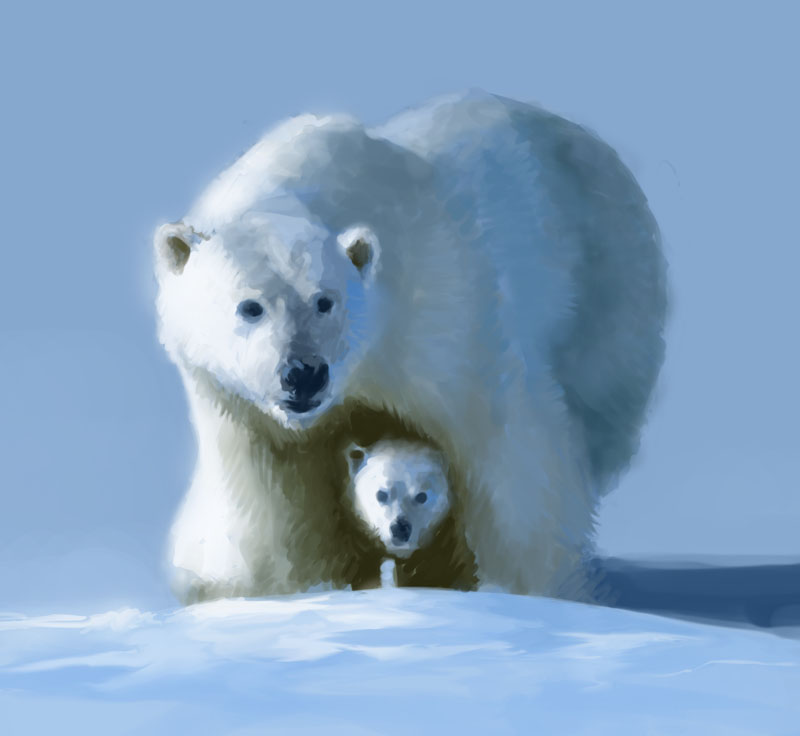 Polar bears by Dusty101