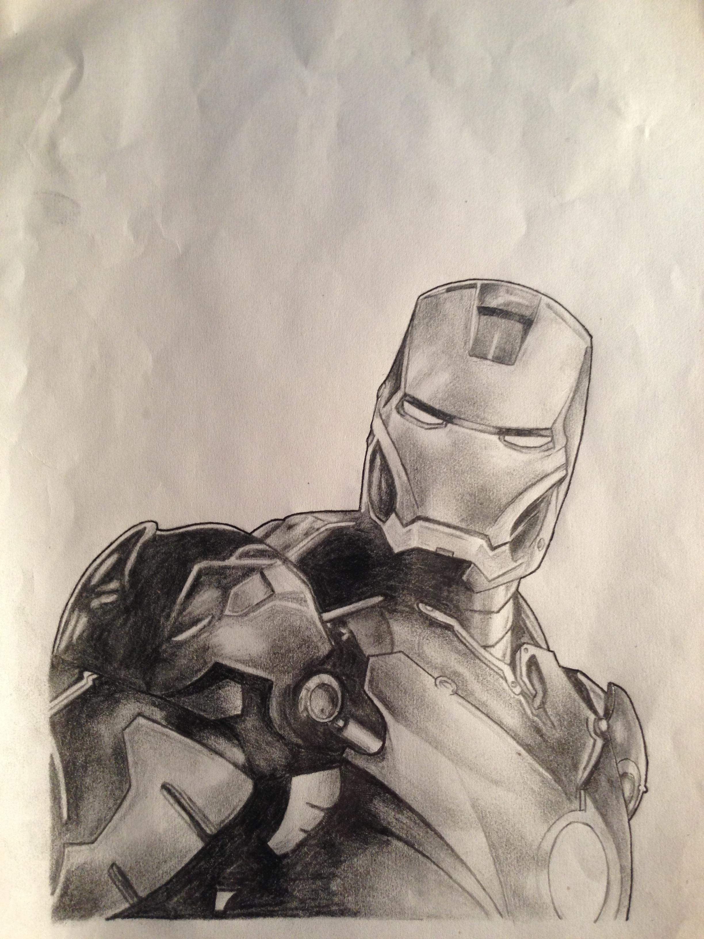 Iron Man pencil drawing by CrunchMallunch on DeviantArt Iron Man Pencil Drawings