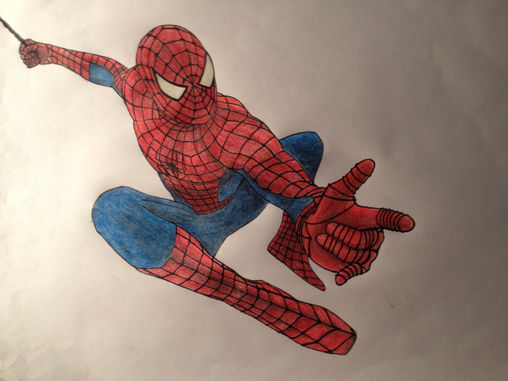 Spiderman Drawing Color Spiderman Pencil Drawing by