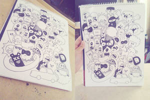 Doodle : Monsters! by kailascribbles