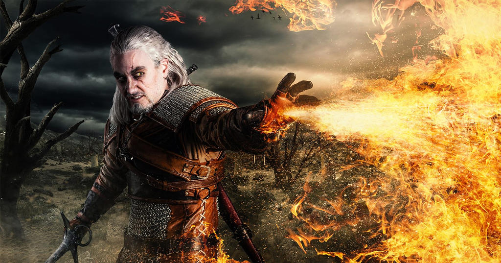 Geralt - let it burn by hizsi