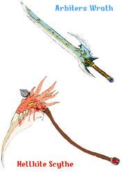 Arbiters Wrath and Hellkite Scythe by NeroDeAngelo